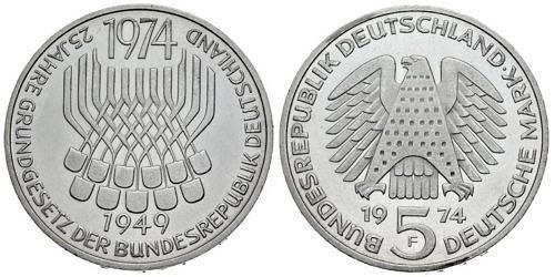 5-dm-brd-25-jahre-grundgesetz-1974-st