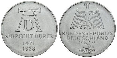 5-dm-brd-albrecht-duerer-1971-st