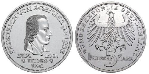 5-dm-brd-friedrich-von-schiller-1955-st