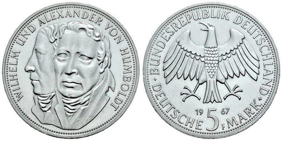 5-dm-brd-wilhelm-und-alexander-von-humboldt-1967-st