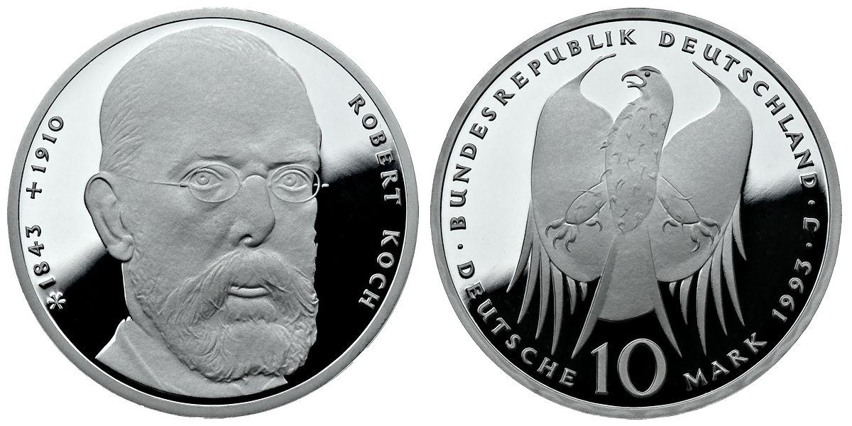 10 Dm Robert Koch Brd 1993 Muenzenladende