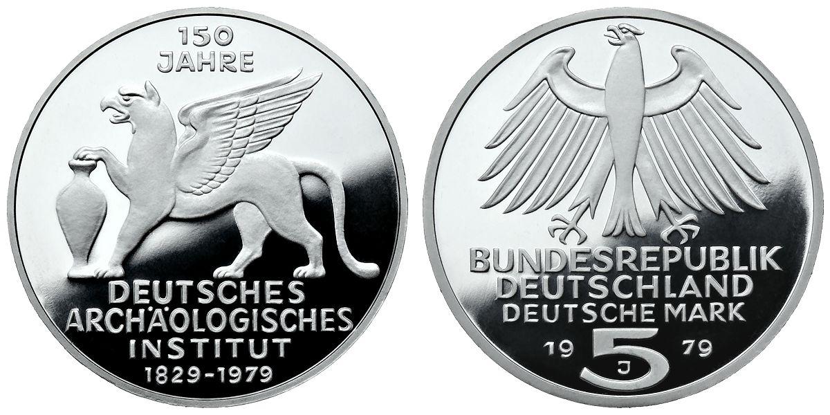 5 Dm Deutsches Archäologisches Institut Brd 1979