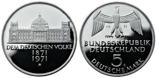 5-dm-brd-reichsgruendung-1971-pp