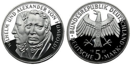 5-dm-brd-wilhelm-und-alexander-von-humboldt-1967-pp