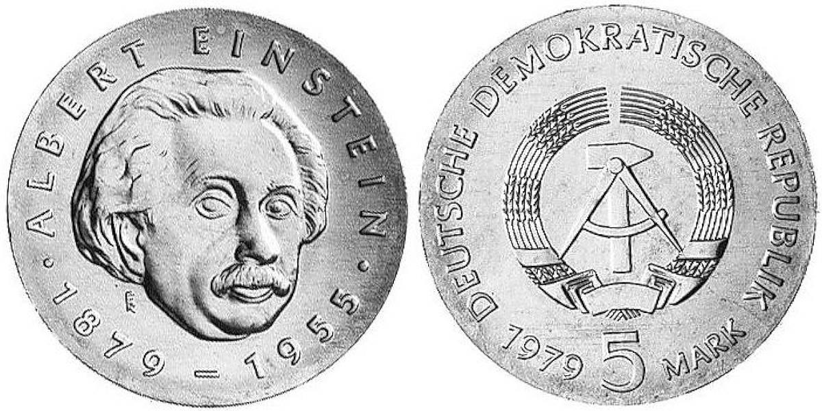 5 Mark Albert Einstein Ddr 1979 Muenzenladende