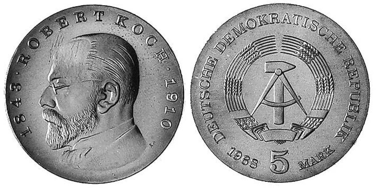 5 Mark Robert Koch Ddr 1968 Muenzenladende