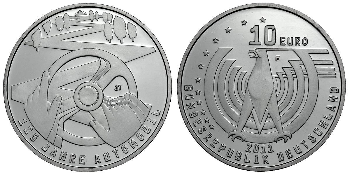 10 Euro 125 Jahre Automobil Brd 2011