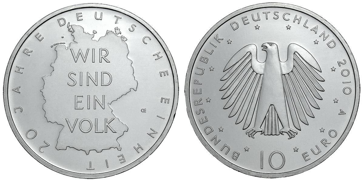 Münze 10 Jahre Deutsche Einheit Ausreise Info