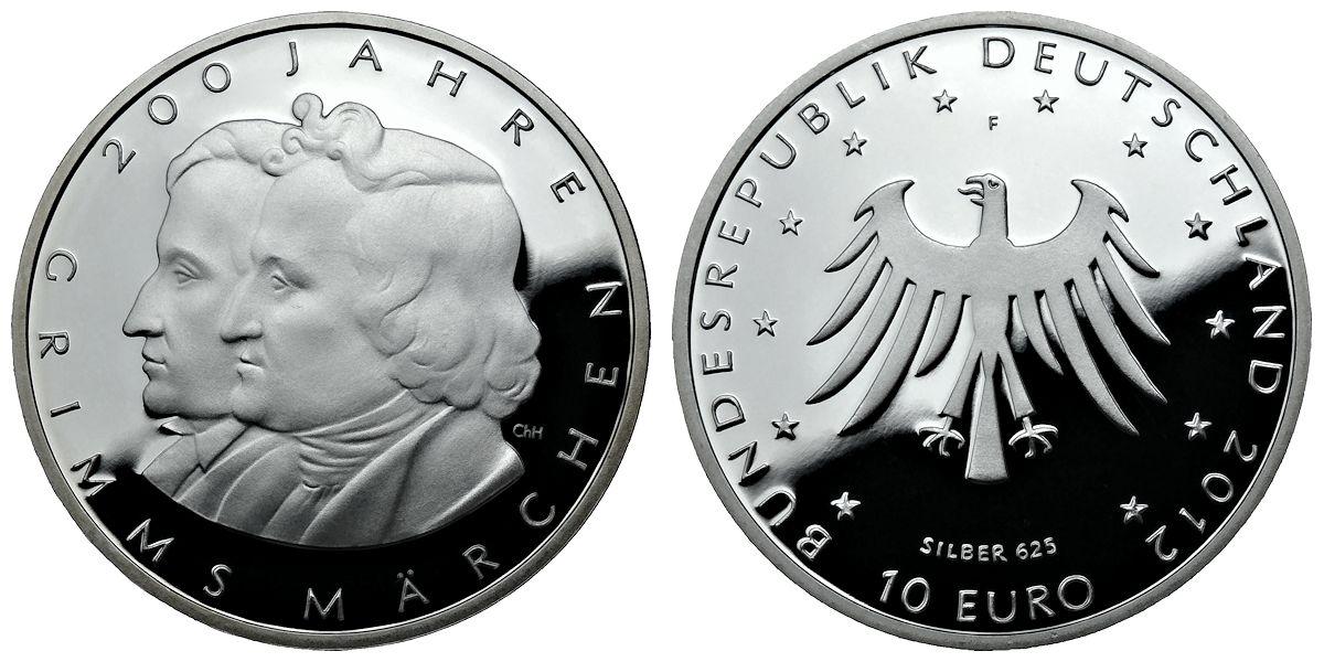 10 euro münze gebrüder grimm