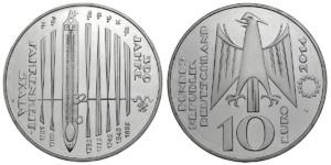 10 Euro 300 Jahre Fahrenheit Skala Brd 2014 Muenzenladende