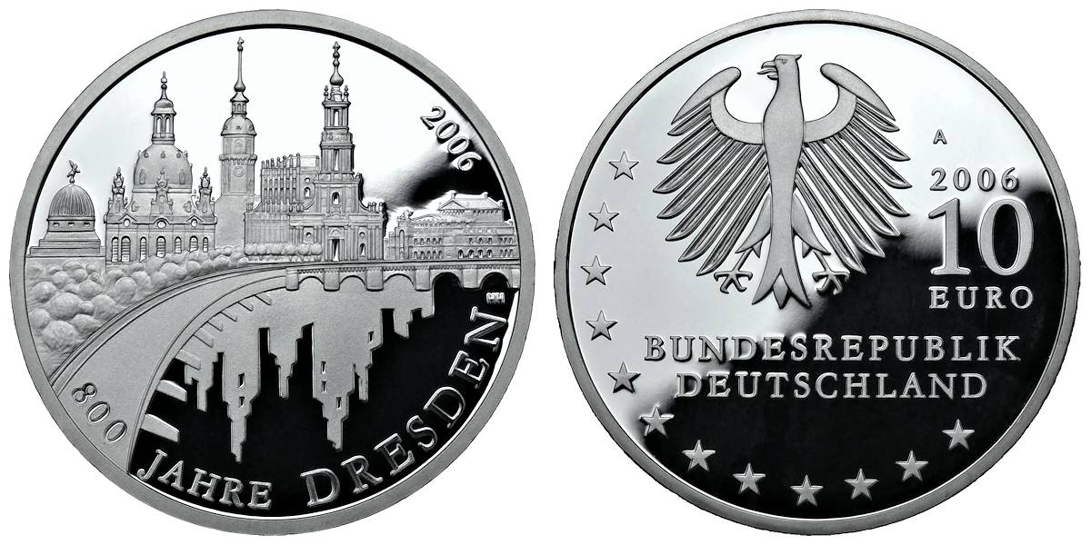 Bundesrepublik Deutschland 10 Euro Münze 2006 Ausreise Info