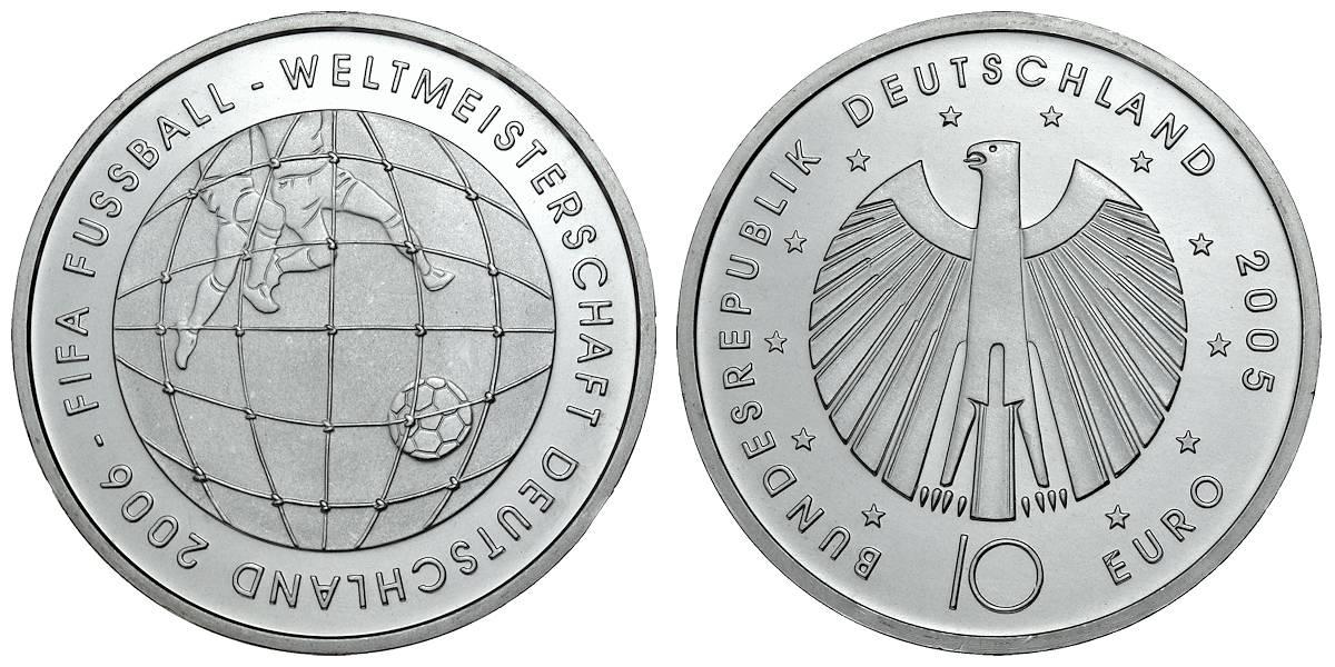 10 Euro Münze 2005 Schiller Wert Ausreise Info