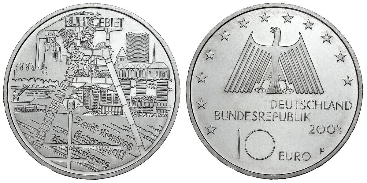 10 Euro Münze 2003 Deutsches Museum Wert Ausreise Info