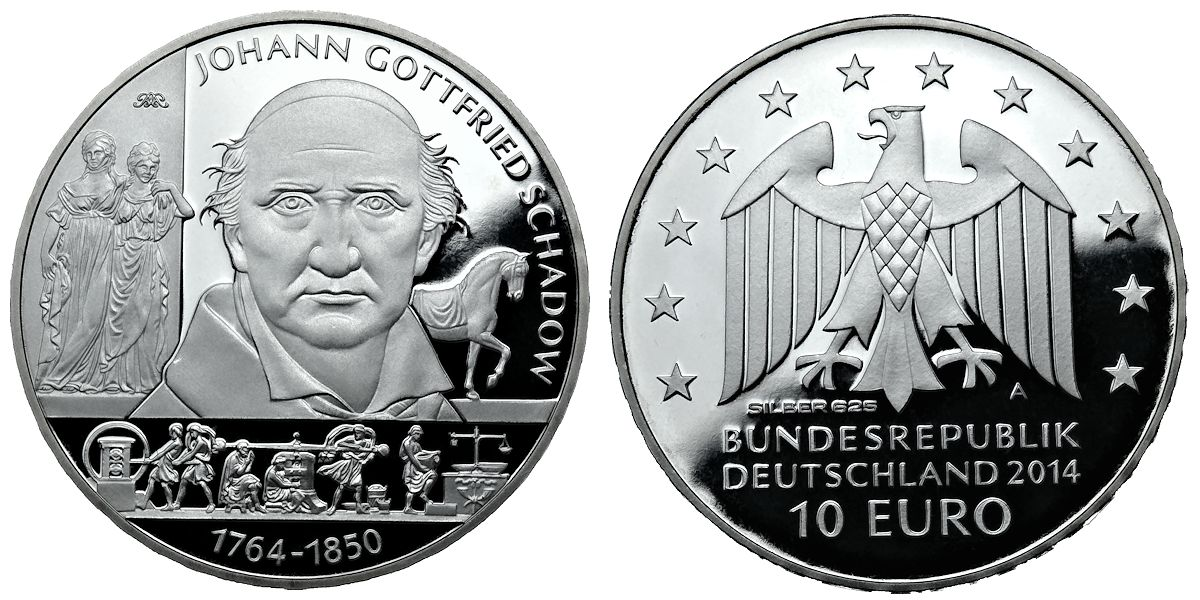 10 Euro Johann Gottfried Schadow Brd 2014 Muenzenladende