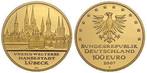 100-euro-unesco-welterbe-hansestadt-luebeck-brd-2007-st