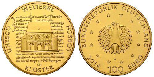 100-euro-unesco-welterbe-kloster-lorsch-brd-2014-st