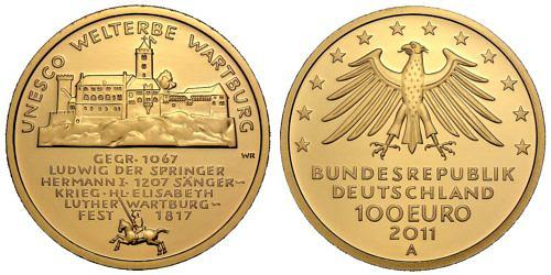 100-euro-unesco-welterbe-wartburg-brd-2011-st