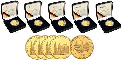 Satz-100-euro-unesco-welterbe-dom-zu-aachen-brd-2012-st-etui