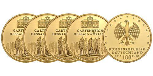 Satz-100-euro-unesco-welterbe-gartenreich-dessau-woerlitz-brd-2013-st