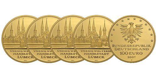 Satz-100-euro-unesco-welterbe-hansestadt-luebeck-brd-2007-st