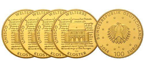 Satz-100-euro-unesco-welterbe-kloster-lorsch-brd-2014-st
