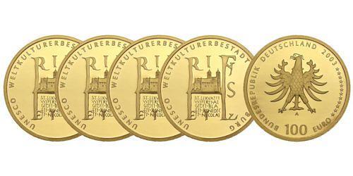 Satz-100-euro-unesco-weltkulturerbestadt-quedlinburg-brd-2003-st