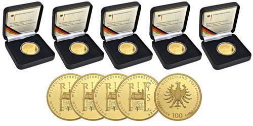 Satz-100-euro-unesco-weltkulturerbestadt-quedlinburg-brd-2003-st-etui