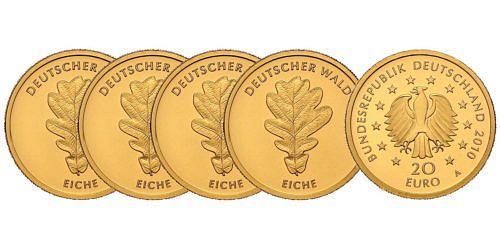Satz-20-euro-gold-deutscher-wald-eiche-brd-2010-st