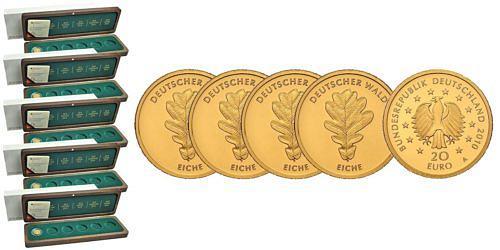 Satz-20-euro-gold-deutscher-wald-eiche-brd-2010-st-etui