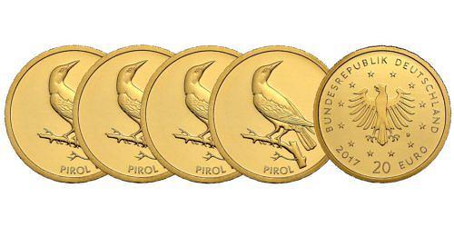 Satz-20-euro-gold-heimische-voegel-pirol-brd-2017-st