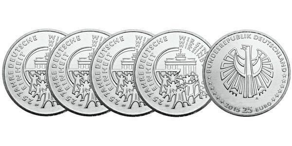 25 Euro 25 Jahre Deutsche Einheit Münzen Hier Im Shop