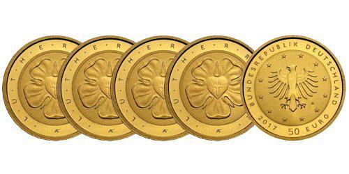 Satz-50-euro-gold-lutherrose-brd-2017-st-var1
