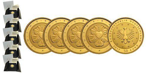 Satz-50-euro-gold-lutherrose-brd-2017-st-var2