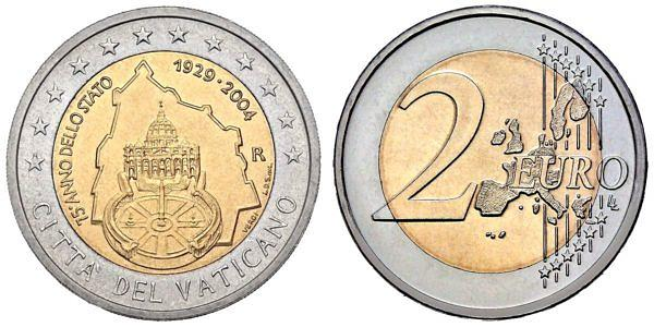 2 Euro Münzen Aus Vatikan Hier Im Shop Muenzenladende