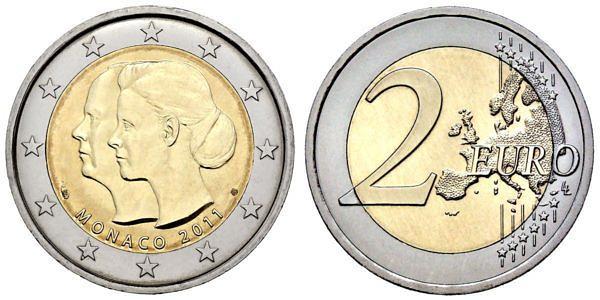 2 Euro Münzen Aus Monaco Hier Im Shop Muenzenladende