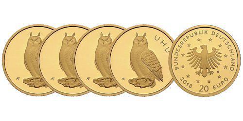 Satz-20-euro-gold-heimische-voegel-uhu-brd-2018-st