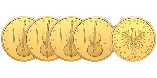 Satz-50-euro-gold-kontrabass-brd-2018-st