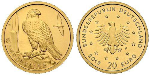 20-euro-gold-heimische-voegel-wanderfalke-brd-2019
