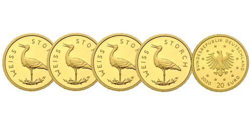 Satz-20-euro-gold-heimische-voegel-weissstorch-brd-2020