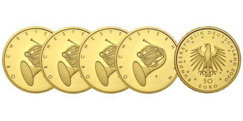 Satz-50-euro-gold-orchesterhorn-brd-2020-st