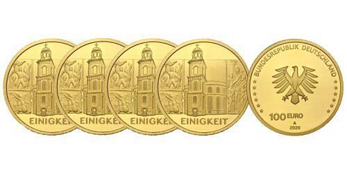 Satz-100-euro-gold-einigkeit-brd-2020-var1