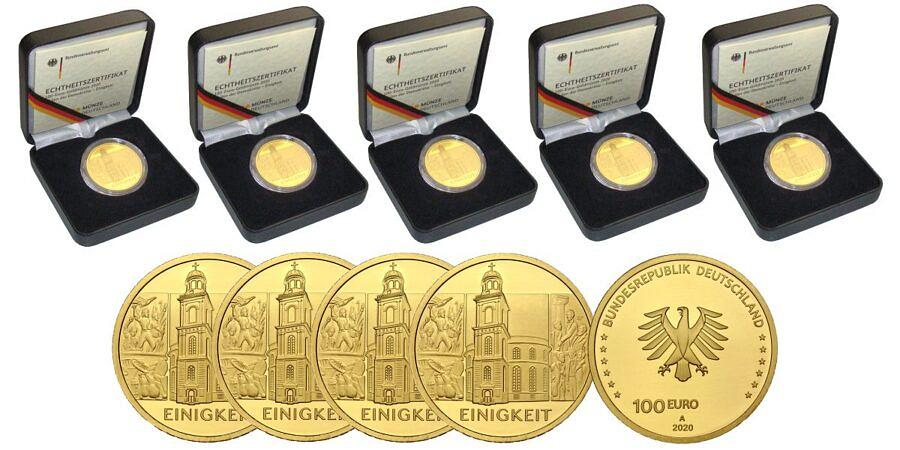 Satz-100-euro-gold-einigkeit-brd-2020-var2