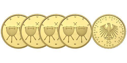 Satz-50-euro-gold-pauke-brd-2021-st