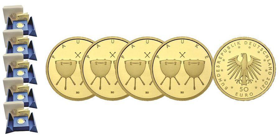 Satz-50-euro-gold-pauke-brd-2021-st-var2